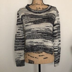 DIVIDED by H&M Black & White Marble Knit Sweater
